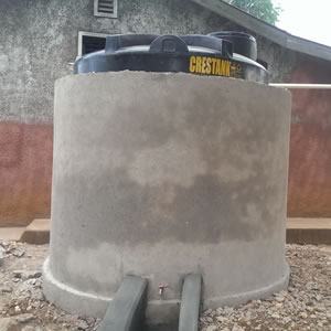 partners of community development rain water tank